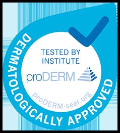 ProDERM  Těsnění pro testovanou snášenlivost s pokožkou; dermatologicky testováno